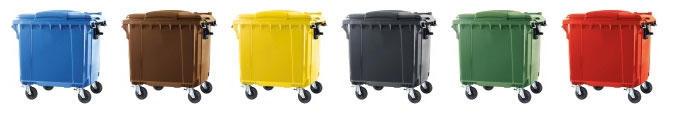 Contentor de Lixo Power Bear 1100 Litros Cores