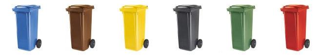 Contentor de Lixo Power Bear 120 a 360 Litros Cores