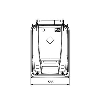Contentor de Lixo Power Bear 360 Litros Desenho técnico